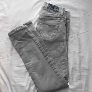 Grey Diesel Low Waisted Skinny Jeans